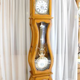 Horloge comtoise Stéphanie merisier massif